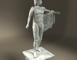 3D model Greek Statue Apollo