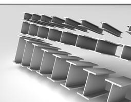 3D model Metal Beam HEB