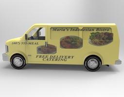 Delivery Van for Vue 3D