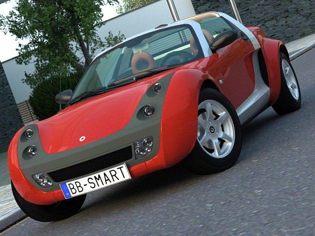 smart roadster 2007 3d model cgtrader. Black Bedroom Furniture Sets. Home Design Ideas