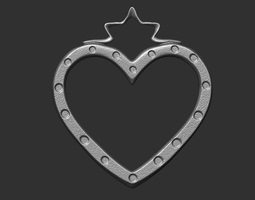 3D print model human Star Heart Pendant