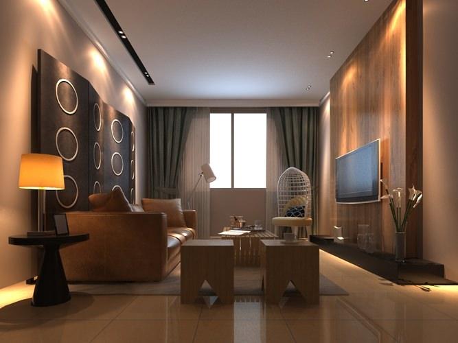 Modern Living Room 6 3d Model Max