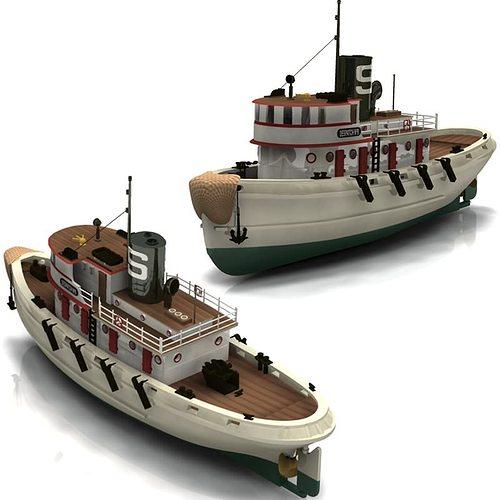 Diesel Tug Studio Max 3D Model MAX