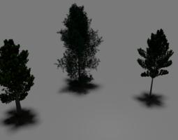 3D asset 3 TREES