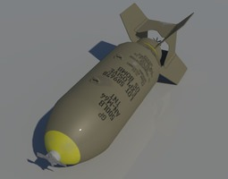 3D AN-M64 500lb General Purpose Bomb