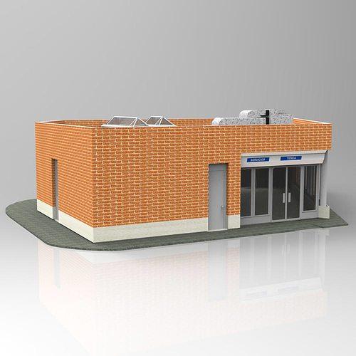 3d auxiliar building studio max cgtrader for 3d studio max models