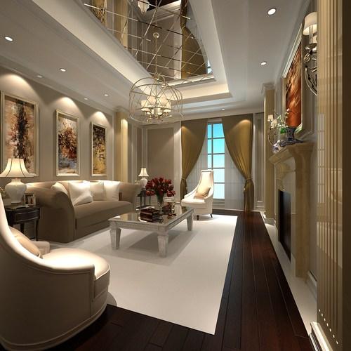 3d luxury white living room cgtrader for Living models