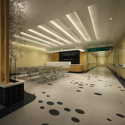 3d Model Modern Hospital Reception Cgtrader