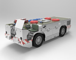 Navy Carrier Fire Tractor Vue 3D model