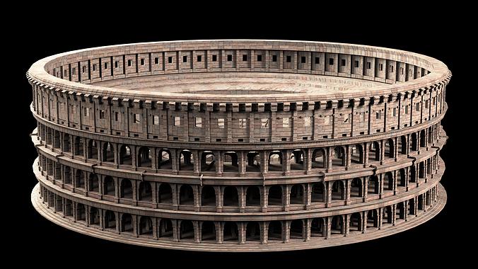 roman colosseum 3d model max obj mtl fbx 1