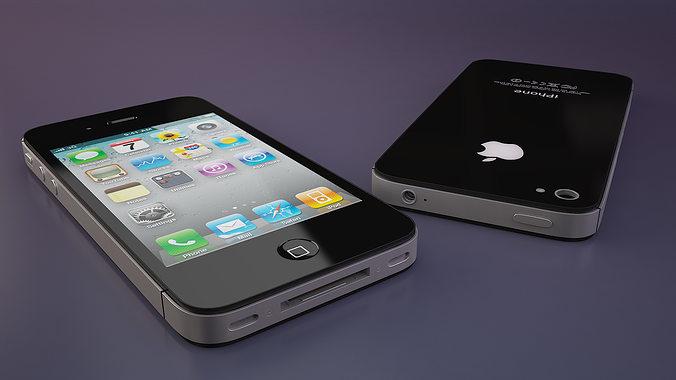 iphone 4s high poly 3d model max obj mtl 3ds fbx 1