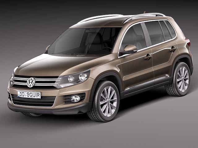 volkswagen tiguan 2012 3d model max obj mtl 3ds fbx c4d lwo lw lws 1