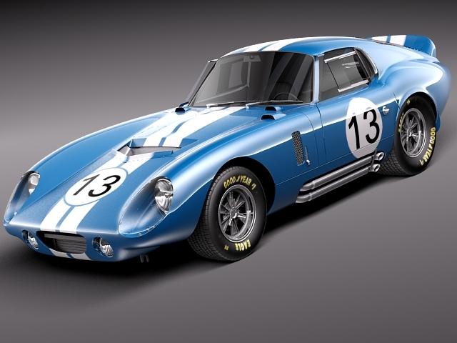 shelby daytona cobra coupe 1964 3d model max obj mtl 3ds c4d lwo lw lws 1