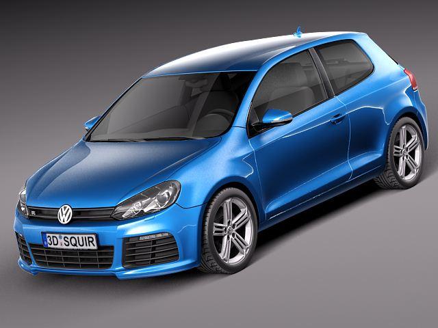 Volkswagen Golf R 2012 3D Model