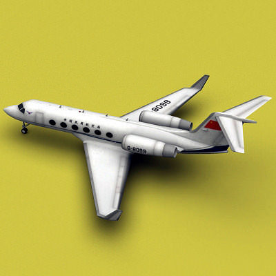 gulfstream aerospace gulfstream iv caac  3d model max 3ds fbx c4d ma mb tga 1