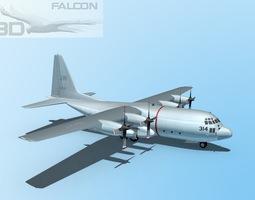 Falcon3D C-130 Hercules US Navy rigged