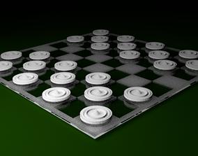 3D asset Glass Checker Board