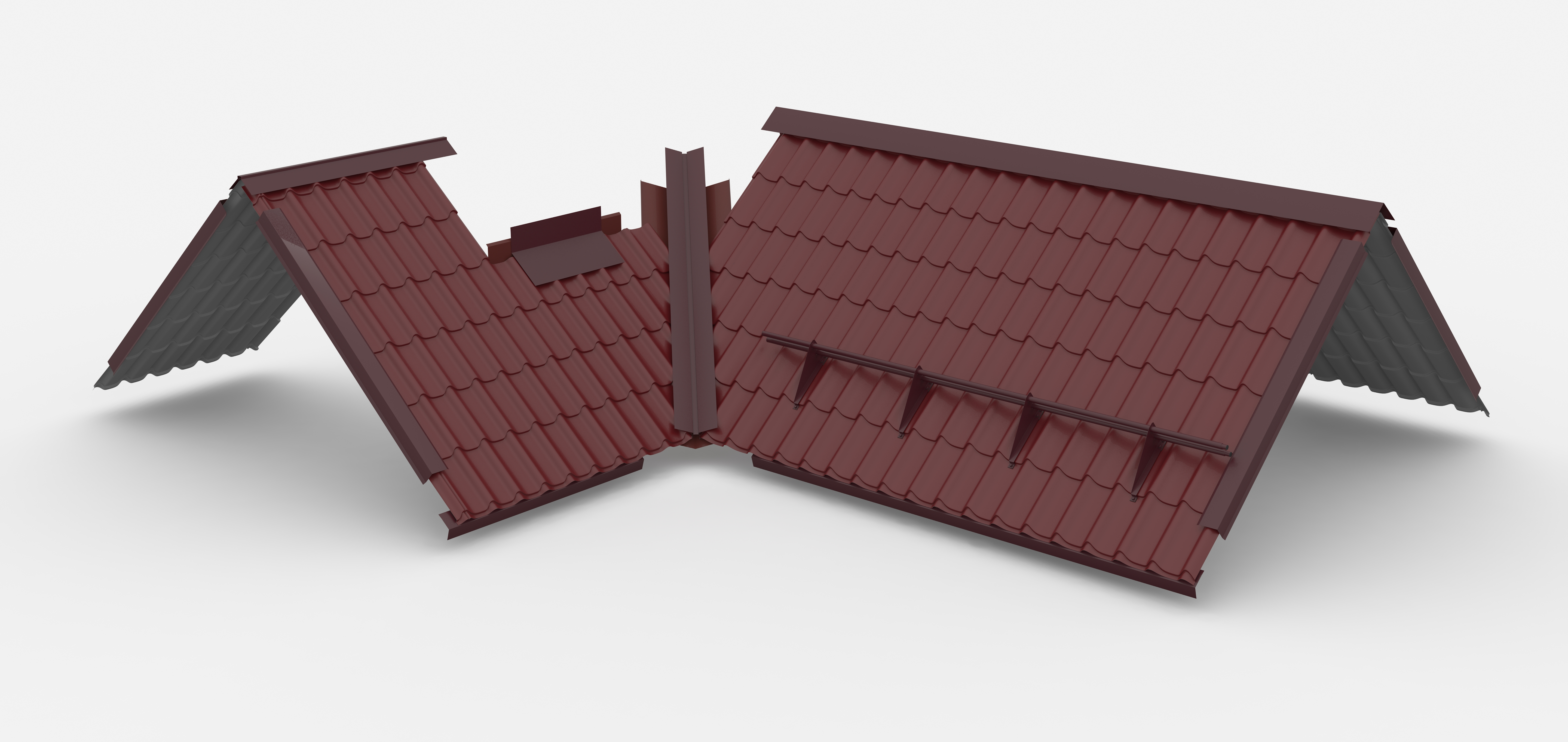 Roofing Roof 3d Model Max Dae Lxo Lxl Cgtrader Com