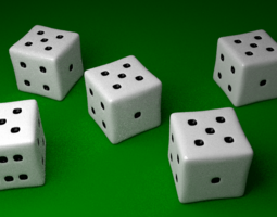 Yahtzee 3D model