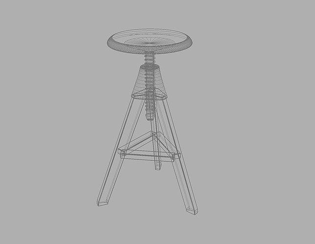 Tom Jerry High Stool 3d Model Max Fbx Cgtrader Com