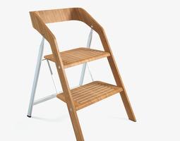 3d model vintage usit stepladder chair 2-step version