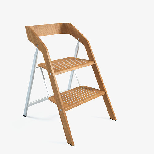 Ordinaire Vintage Usit Stepladder Chair 2 Step Version 3D Model