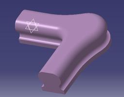 angular part of handrail stl-file for cnc-mashine 3d print model