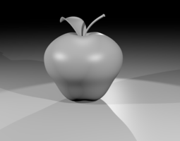 Apple Untextured 3D model