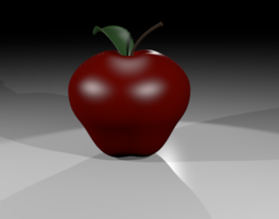 APPLE WITH MATERIALS 3D asset