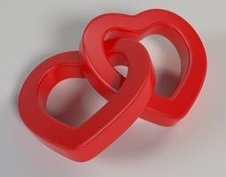 3D print model Linked Hearts 001