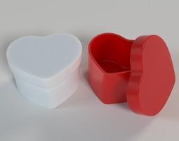 3d printable model heart shaped box
