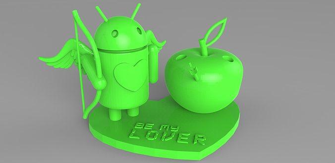 androios love pencil stand 3d model max obj mtl stl 1