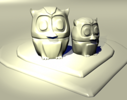 love owls 3d printable model low-poly 3d model