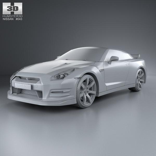 2013 Nissan Gt R Interior: Nissan GT-R R35 2013 3D Model MAX OBJ 3DS FBX C4D LWO LW