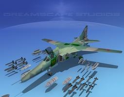 3D model MIG-27 Flogger V03 USSR