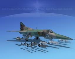 3D MIG-27 Flogger V04 USSR