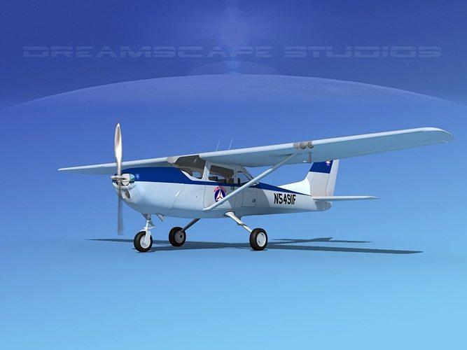 cessna t-41 mescalero civil air patrol 3d model animated max obj 3ds lwo lw lws dxf dwg 1