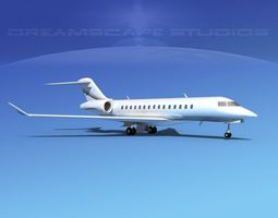 3D model Bombardier Global 5000 V02
