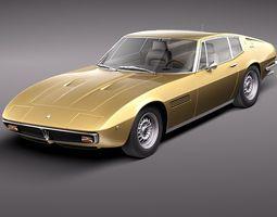 Maserati Ghibli 4900 SS Coupe 1970 3D Model 3D Model