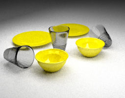 Neon Yellow Disheses 3D model
