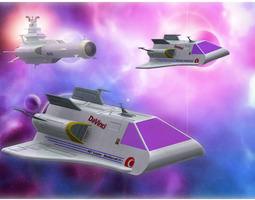 rigged earth shuttle for poser 3d