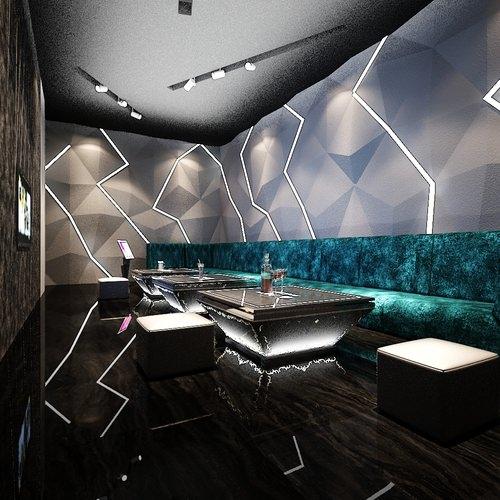 Modern restaurant or club interior d cgtrader