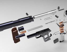 Colt 1911 A1 Goverment Pistol 3D