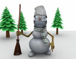 Evil Snowman for Poser 3D