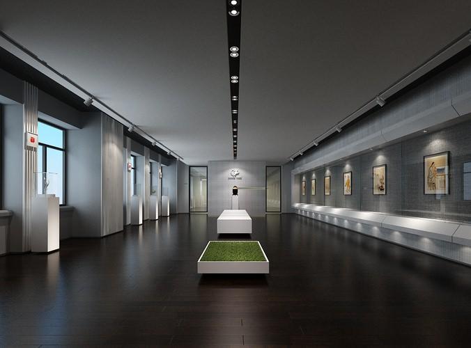 Modern Museum 3d Cgtrader