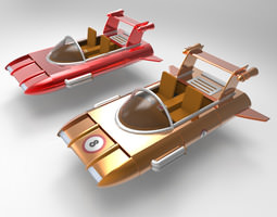 3d model rigged retro racer for vue
