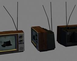 3D asset Broken TV