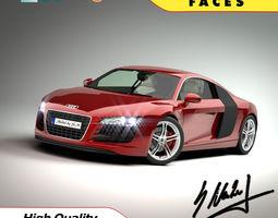Audi R8 V8 -high quality 3D Model
