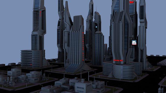 taos city 3d model obj mtl 1