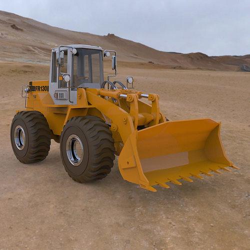 fiat-allis loader fr 130 for poser 3d model obj mtl pz3 pp2 pdf 1
